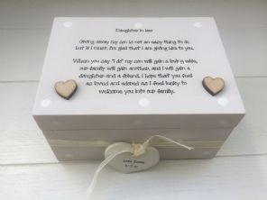 Shabby Personalised Chic Daughter In Law From  Mother Of The Groom Gift Wedding